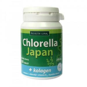 HEALTH LINK Chlorella Japan + kolagen 250 tablet
