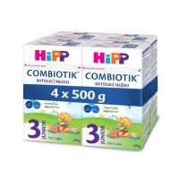 HiPP 3 JUNIOR Combiotik Pokračovací batolecí mléko od 12 - 24 měsíců 4 x 500 g