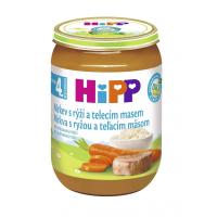 HiPP BIO Mrkev s rýží a telecím masem 190 g