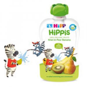 HiPP BIO 100% ovoce Hruška-Banán-Kiwi 100 g