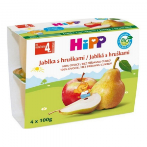 HIPP Ovoce 100% Jablka s hruškami BIO 4x100 g