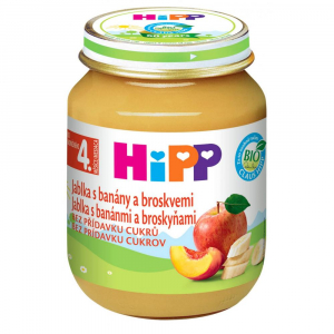 HIPP Ovoce Jablka s banány a broskvemi BIO 125 g
