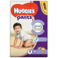 HUGGIES Pants Jumbo 4, 9–14 kg, 36 ks