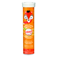 INTACT Chytrá liška, železo + vitamín C 15 šumivých tablet pomeranč