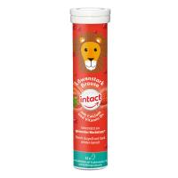 INTACT Silný lev vápník + vitamín D3 15 šumivých tablet jahoda