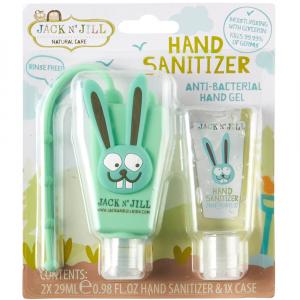 JACK N' JILL Antibakteriální gel na ruce pro děti 2 x 29 ml - ZAJÍC