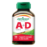 JAMIESON Vitamíny A+D 10000/800IU Premium 100 kapslí