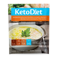 KETODIET Proteinová polévka hovězí s nudlemi 7 porcí