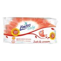 LINTEO Baby Vlhčené ubrousky Soft & Cream 120 kusů