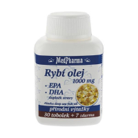 MEDPHARMA Rybí olej 1000mg + EPA + DHA 37 tobolek