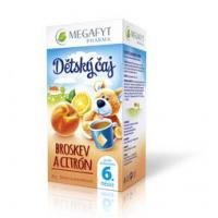 MEGAFYT Dětský čaj broskev a citrón 20 x 2 g
