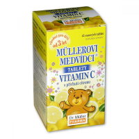 DR. MÜLLER Müllerovi medvídci s vitaminem C a příchutí citronu 45 tablet