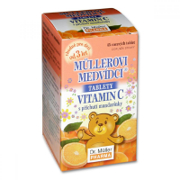 DR. MÜLLER Müllerovi medvídci s vitaminem C s příchutí mandarinky 45 tablet