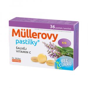 DR. MÜLLER Müllerovy pastilky se šalvějí bez cukru 36 ks