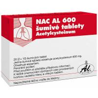 NAC AL 600 ŠUMIVÉ TABLETY  600 mg 20 tablet