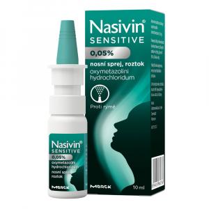 NASIVIN Sensitive 0,05% roztok ve spreji 10 ml
