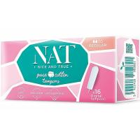 NAT nice & true Tampony z organické bavlny – regular 16 ks