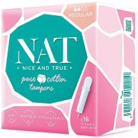 NAT nice & true Tampony z organické bavlny – s aplikátorem – regular 16 ks