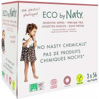NATY Dětské vlhčené hygienické ubrousky Economy pack (3x 56 ks)