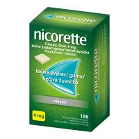 AKCE NICORETTE Classic 4 mg Léčivá žvýkací guma 105 kusů