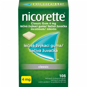 NICORETTE Classic 4 mg Léčivá žvýkací guma 105 kusů