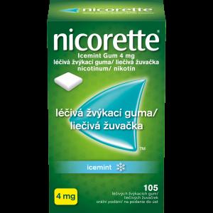 NICORETTE Icemint 4 mg Léčivá žvýkací guma 105 kusů