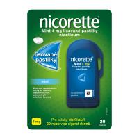 AKCE NICORETTE Mint 4 mg Lisované pastilky 20 kusů