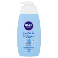 NIVEA Baby Šampon a pěna do koupele 2v1 500 ml