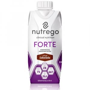 NUTREGO FORTE Výživa 12x330 ml, Příchuť: Čokoláda