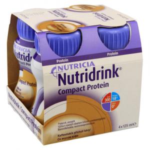 NUTRIDRINK Compact protein roztok s příchutí kávy 4 x 125 ml