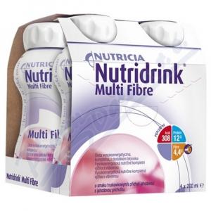 NUTRIDRINK Multifibre s příchutí jahodovou 4 x 200 ml