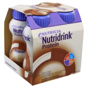 NUTRIDRINK Protein roztok s čokoládovou příchutí 4 x 200 ml