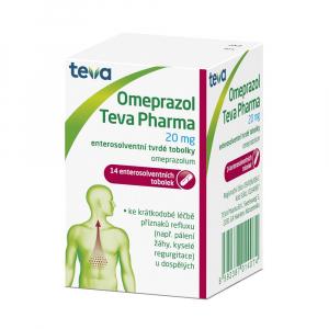 OMEPRAZOL Teva Pharma 20 mg 14 tobolek
