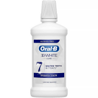 ORAL-B 3D White Luxe Perfection Ústní Voda bez alkoholu 500 ml