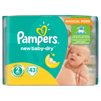 PAMPERS Active Baby-Dry 2 MINI 4-8 kg 43 kusů