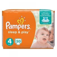 PAMPERS Sleep&Play 4 MAXI 9-14 kg 50 kusů