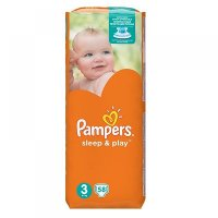 PAMPERS Sleep&Play 3 MIDI 4-9 kg 58 kusů