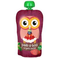 PEEK-A-BOO Puree Řecký jogurt a jahody, borůvky, maliny 1+1 ZDARMA