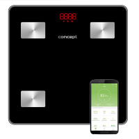 PERFECT HEALTH VO4001 Osobní váha diagnostická 180 kg, černá