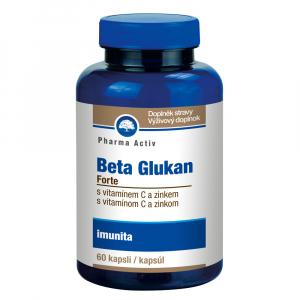 PHARMA ACTIV Beta Glukan forte Vitamín C a Zinek 60 kapslí