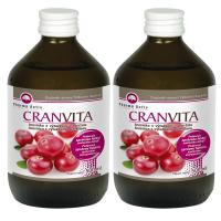 PHARMA ACTIV Cranvita brusinka 500 ml 1 + 1 SET