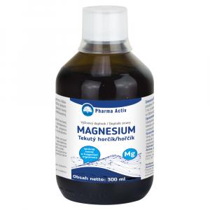 PHARMA ACTIV Tekutý hořčík + vitamín C s malinovou příchutí 300 ml