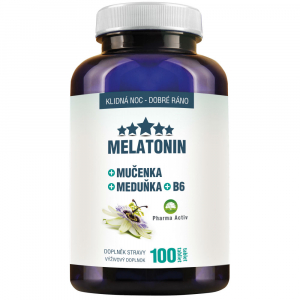 PHARMA ACTIV Melatonin  Mučenka Meduňka + B6 100 tablet