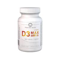 PHARMA ACTIV Vitamin D3 MAX 4000 I.U. 100 tablet