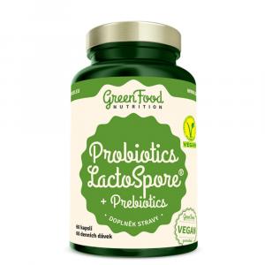 GREENFOOD NUTRITION Probiotika lactospore + prebiotika 60 kapslí
