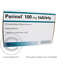 PURINOL 100MG  100X100MG Tablety