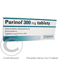 PURINOL 300MG  30X300MG Tablety