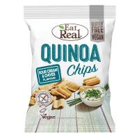 EAT REAL Quinoa Chips smetana a pažitka 80 g BEZ lepku