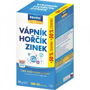 REVITAL Vápník, Hořčík, Zinek + vitamín D3 + K1 150 tablet