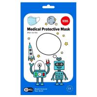 MEDICAL Jednorázová dětská obličejová rouška 10 kusů, modrá